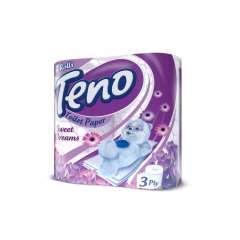 دستمال توالت تنو معطر و رنگی سه لایه 4 رول
