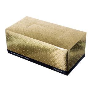 دستمال کاغذی سافتلن طلایی 300 برگ