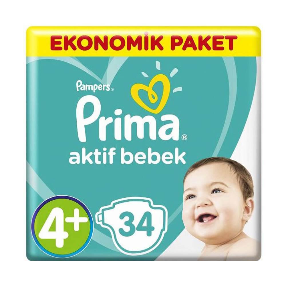 پوشک بچه پریما ترک سایز 4+  34 عددی