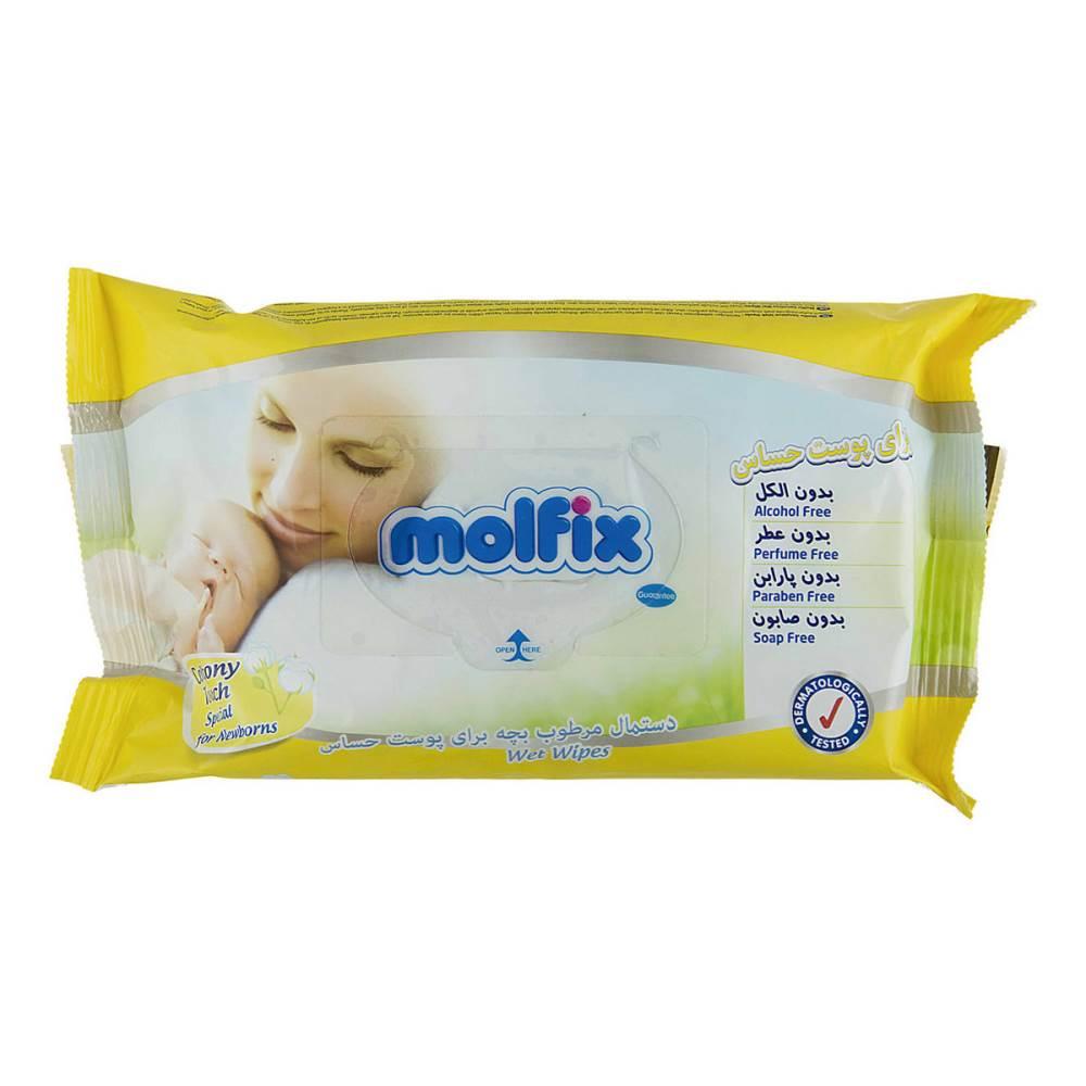 دستمال مرطوب مولفیکس مدل Sensitive