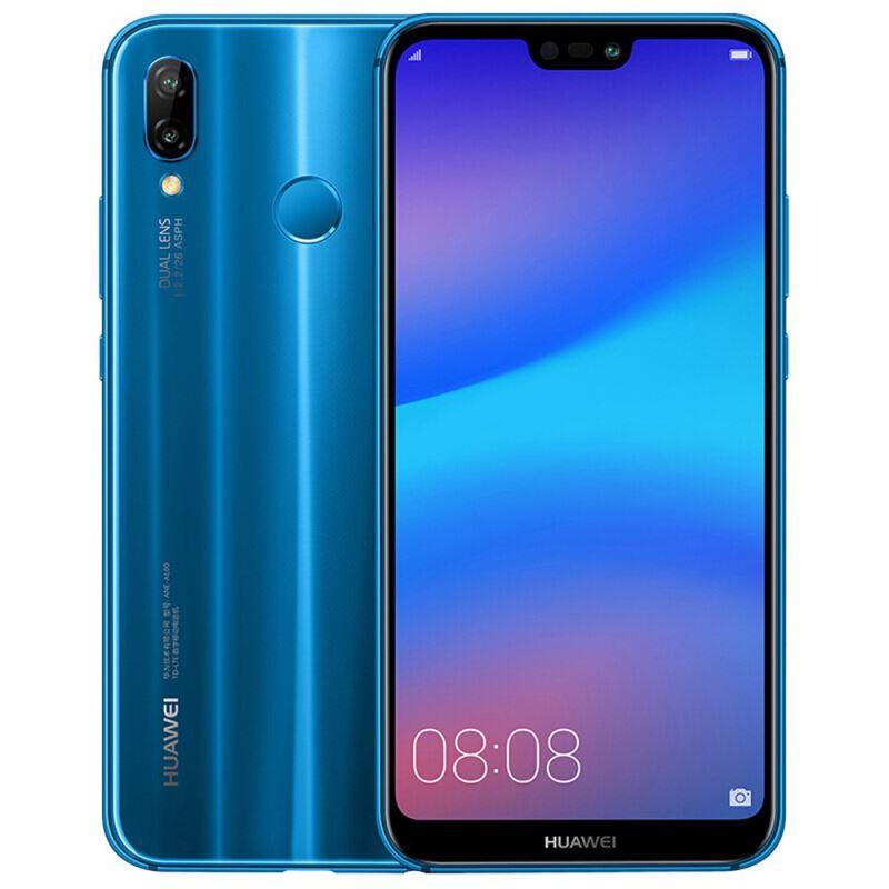 گوشی موبایل هوآوی مدل Nova 3e ANE-LX1 دو سیم کارت ظرفیت 64 گیگابایت رنگ آبی