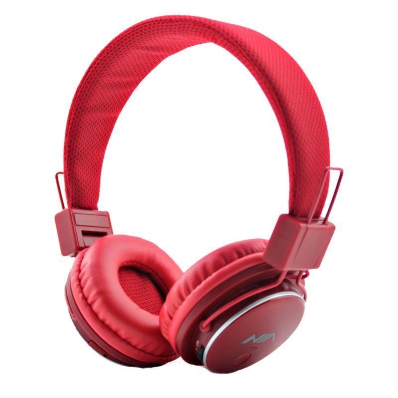 هدفون بی سیم نیا مدل Q8-851S  رنگ قرمز
