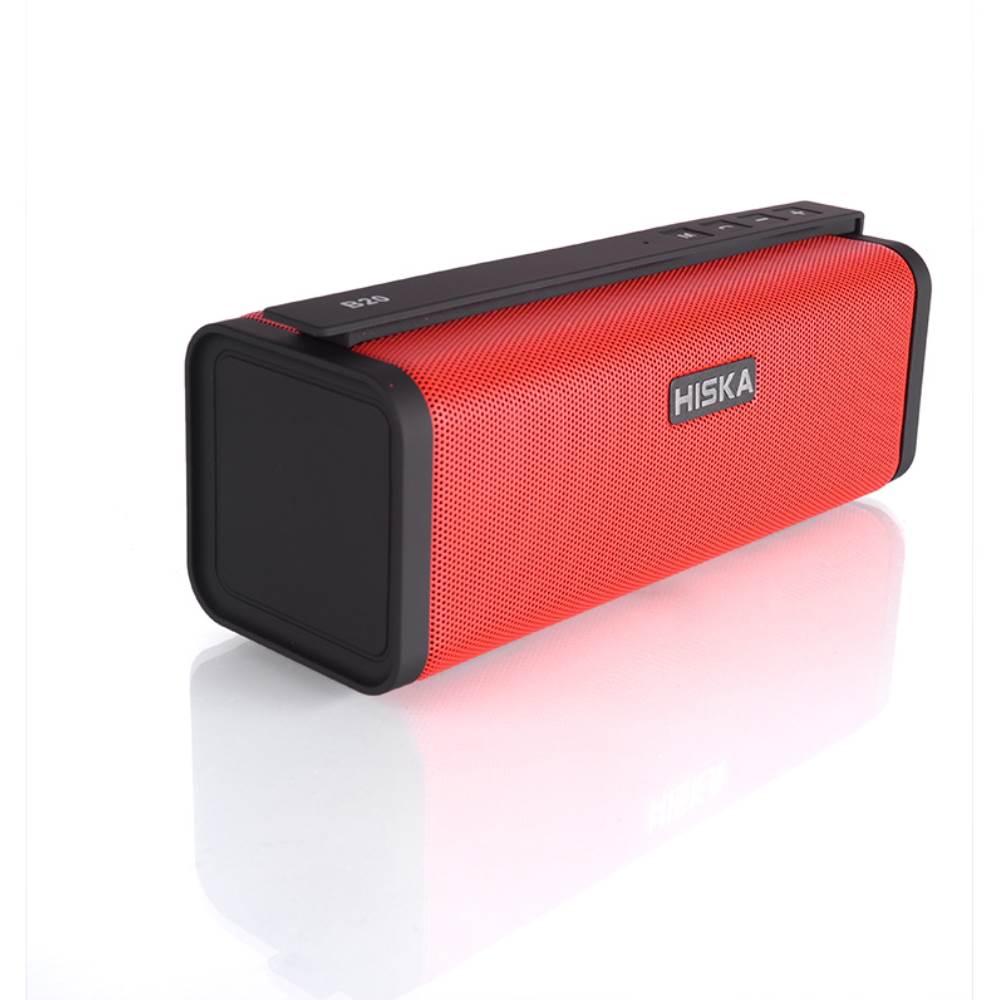 اسپیکر بلوتوثی قابل حمل هیسکا مدل B20 رنگ قرمز
