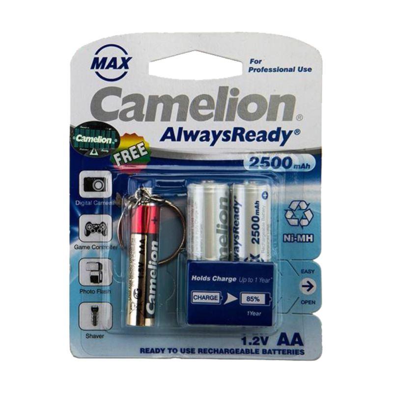 باتری قلمی قابل شارژ کملیون مدل Always Ready Max به همراه چراغ قوه بسته 2 عددی