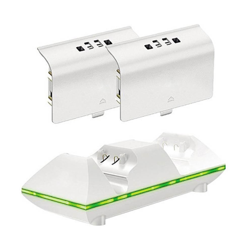 پایه شارژ دسته بازی Xbox One S اسپارک فاکس مدل Dual Controller Charger به همراه 2 عدد باتری
