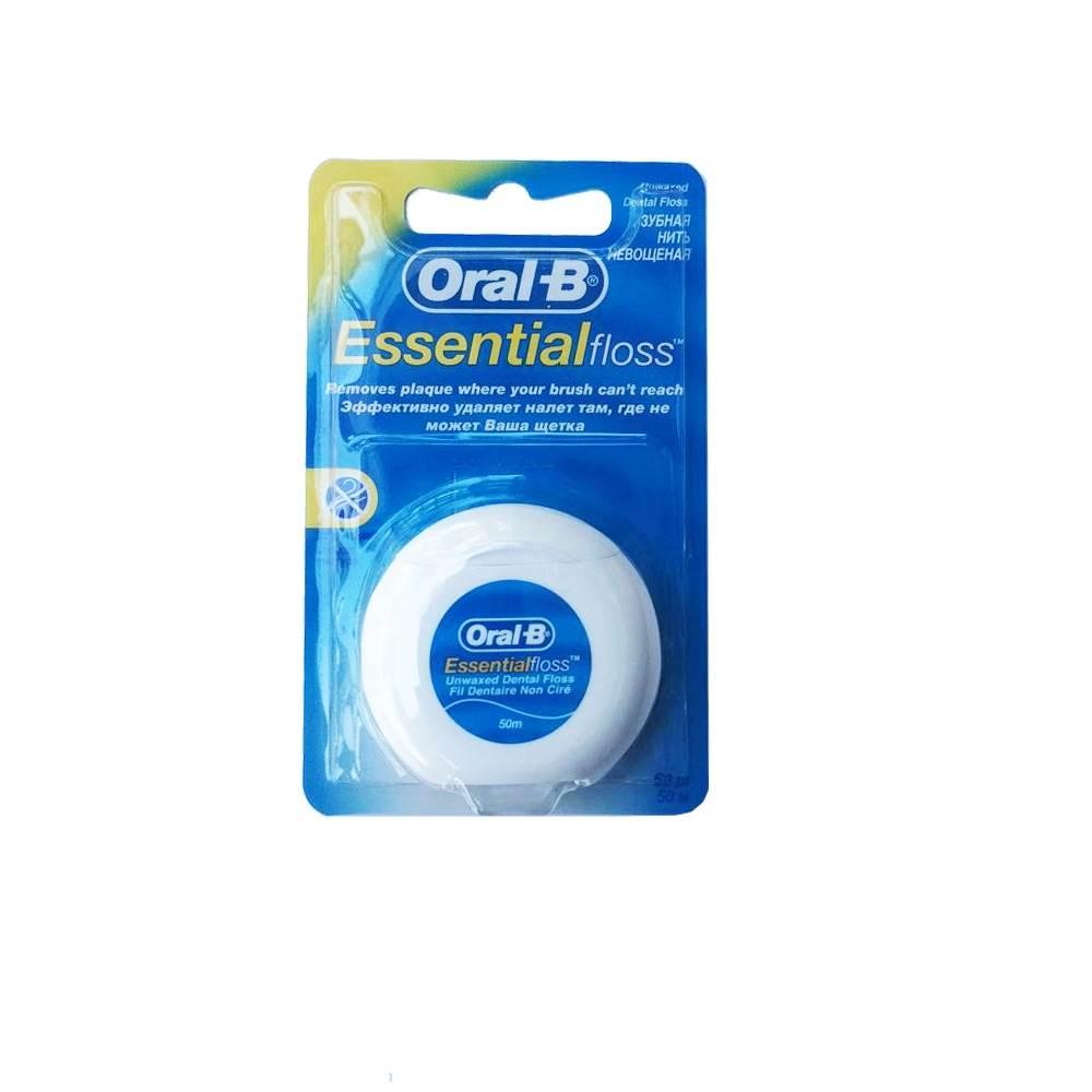 نخ دندان اورال-بی مدل Essential dental floss unwaxed