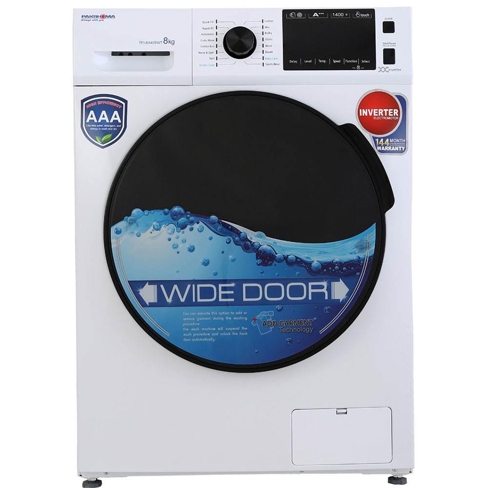 ماشین لباسشویی پاکشوما مدل TFI 83405 ظرفیت 8 کیلوگرم