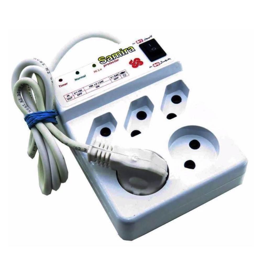 چندراهی برق و محافظ برق سمیرا مدل 5Sochets  ۸ نفر