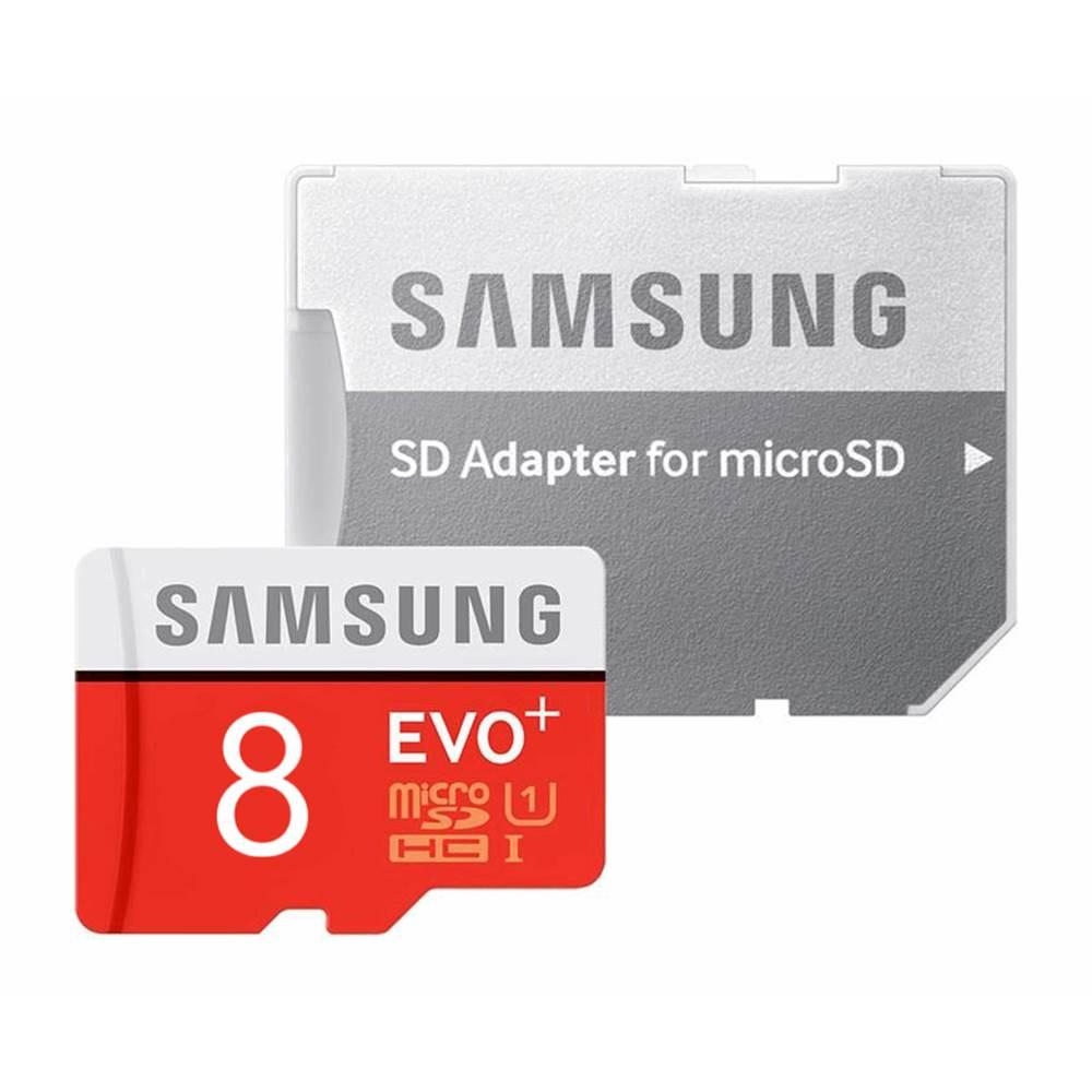 کارت حافظه microSDHC مدل Evo Plus کلاس 10 استاندارد UHS-I U1 سرعت 80MBps همراه با آداپتور SD ظرفیت 8 گیگابایت