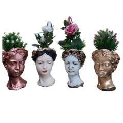گلدان دکوری طرح زن یونانی
