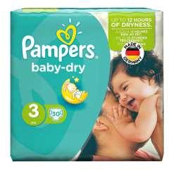 پوشک پمپرز مدل Baby Dry سایز 3 بسته 30 عددی