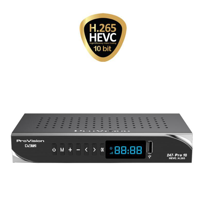گیرنده دیجیتال پروویژن 247 پرو 10 -  HEVC/H265