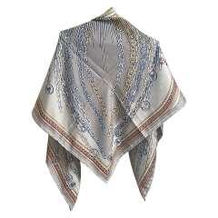 روسری ابریشم ژاکارد طرح لویی ویتون دور دست دوز