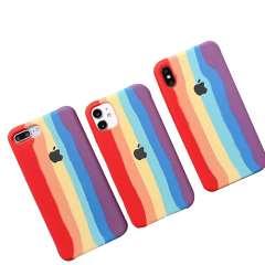 قاب موبایل رنگین کمانی